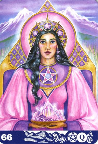 ペンタクルのクィーン(Queen of Pentacles)